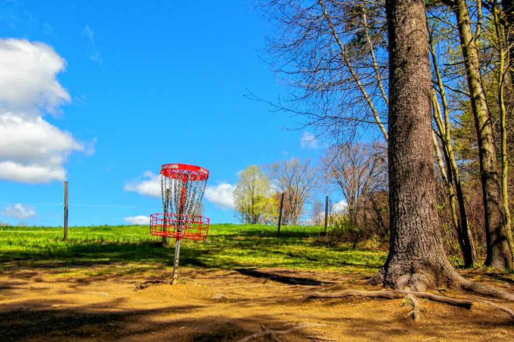 Top O' The Hill Disc Golf in Canterbury on Thursday, May 6, 2021. MELISSA CURRAN